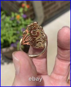 James Avery Long Sorrento Ring 14K Gold Size 8.75
