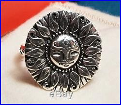 James Avery MY SUNSHINE RING Size 7 Retired Sterling Silver 925