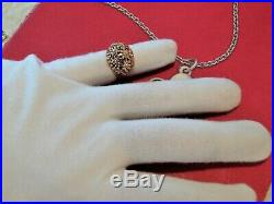 James Avery Margarita Daisy Flower Large Dome Ring 14k gold Ring Size 6