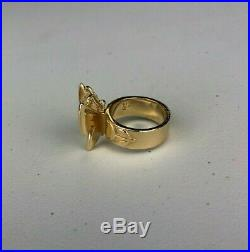 James Avery Mariposa Butterfly Ring 14K Yellow Gold Size 7, 12.6 grams Retired