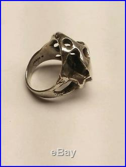 James Avery. Meteorite Moonrock Ring. 925 Size 7.5. Retired, Rare! (19004053)