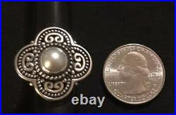James Avery Milano Cultured Pearl Beaded Ring Size 5 Retails $240