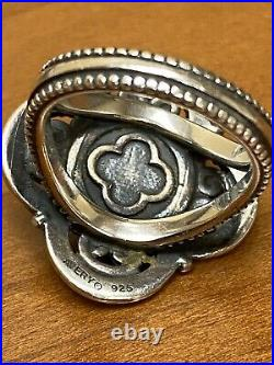 James Avery Milano Cultured Pearl Sterling Silver Beaded Ring Size 7 Retired