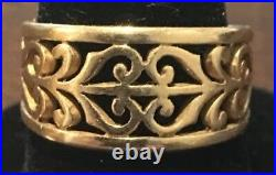 James Avery Open Adorned 14K Gold Ring Size 7