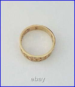 James Avery Open Adorned Adoree 14K Gold Ring Retired Size 8.5