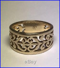 James Avery Open Adorned Gold Ring Sz. 6.5 I