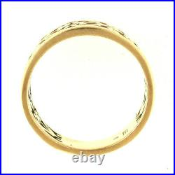 James Avery Open Adorned Ring 14k Gold Size 7.5 Retired Filigree Band 585 Yellow