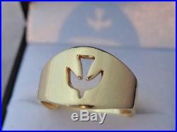 James Avery Open Descending Dove Ring 14k gold Size 8