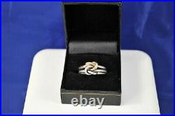 James Avery Original Lovers Knot 14K Gold Sterling Silver Double Band Ring Size9