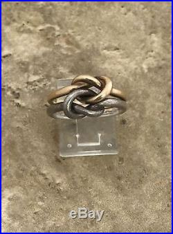 James Avery Original Lovers' Knot Ring RG-1237 Sz 7 1/2 14K Gold Sterling Silver