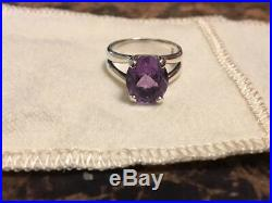 James Avery Oval Amethyst Sterling Silver Ring. Size 5 1/2