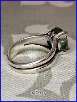 James Avery Oval Prasiolite Ring Sterling Silver Size 6
