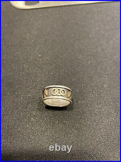James Avery Pattee Cross Band Ring Band 14k 585 Gold & Sterling Silver Size 6.75