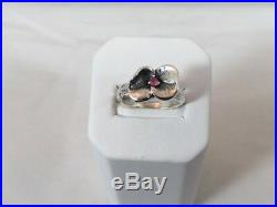 James Avery RETIRED/RARE Flower Pansy Blossom Ring Size 5.75