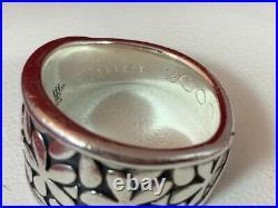 James Avery RETIRED Sterling Silver Spring Blossom Flower Band Ring 6