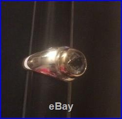 James Avery Rare Retired 14k Gold & Sterling Silver Prasiolite Ring Size 7.75
