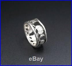 James Avery Rare Retired Sterling Silver Texas Armadillo Band Ring Size 5 RS2452