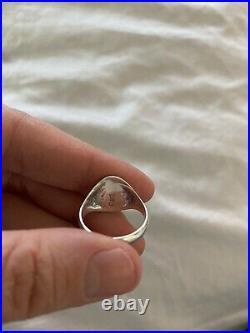 James Avery Rare Vintage Unicorn Signet Ring Size 6.5 EUC