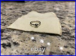 James Avery Remembrance Birthstone December Blue Zircon Ring Sz. 6 1/2