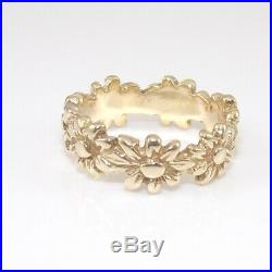 James Avery Retired 14K Yellow Gold Margarita Flower Band Ring Size 5 GGD