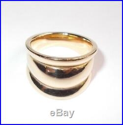 James Avery Retired 14K Yellow Gold Tapered Fluted Stacked Band Ring Size 8