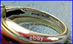 James Avery Retired 14k &. 925 Two Tone Knot Puzzle Ring Sz6.5 Fun to wear