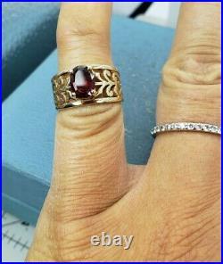 James Avery Retired 14k Adoree Garnet Ring Sz6
