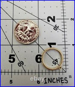 James Avery Retired 14k Dangle Ring Sz7
