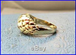 James Avery Retired 14k Dome Basket Weave Ring SIZE 5.5