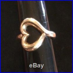 James Avery Retired 14k Gold Abounding Heart Ring Size 8