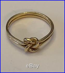 James Avery Retired 14k Gold Lovers Knot Ring Size 6