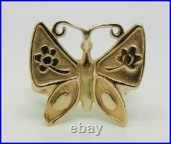 James Avery Retired 14k Gold Mariposa Butterfly Ring Size 7.75 Rare Lb3215