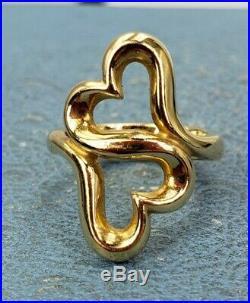 James Avery Retired 14k Heart To Heart Ring Sz4