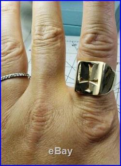 James Avery Retired 14k Heavy Mens Cross Ring Sz10
