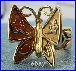 James Avery Retired 14k Mariposa Ring Solid Condition Hot Ticket Item Sz5