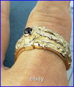 James Avery Retired 14k Mens Martin Luther Ring Rare In Good Condition Lowest $$