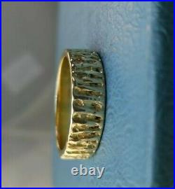 James Avery Retired 14k Tiger Stripes Ring Size 11.5 Near Mint Condition