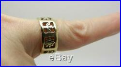 James Avery Retired 14k Yellow Gold Four Seasons Ring Band Lb3054