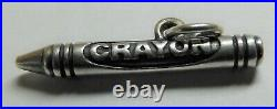 James Avery Retired 3D Sterling Crayon Cut Ring Charm