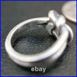 James Avery Retired 925 Sterling Silver Bold Lovers Knot Ring Size 6