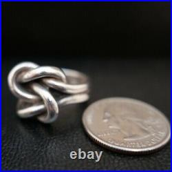 James Avery Retired 925 Sterling Silver Bold Lovers Knot Ring Size 8