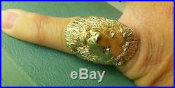 James Avery Retired Bold King Lion Ring LEO Sz7 39.8 G-Heaviest Ring On eBay