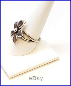 James Avery Retired Flower Copper Petals Ring. 925 Preowned Size 9.5