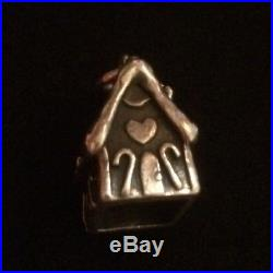 James Avery Retired Gingerbread House Charm 3d Sterling Silver Rare Ring Is Cut