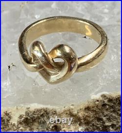James Avery Retired Gold 14k Heart Knot Ring SZ 7