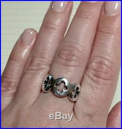 James Avery Retired HTF Quatra Blossom Quatrefoil Sterling Silver Ring Size 9.0
