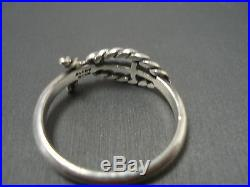 James Avery Retired Open Ichthus Ring Size 7.75 #jps640