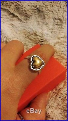 James Avery Retired Rare 14k Gold & Sterling Silver Heart of Gold Ring Size 10