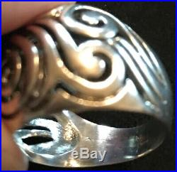 James Avery Retired Rare Large Scroll Dome Ring Size 9
