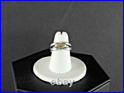 James Avery Retired Ring Band Fancy 7.2 Gm Solid 925 Sterling 14K Yellow Gold 6